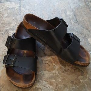 Birkenstock Black 2 Strap Arizona Slide Sandal 38